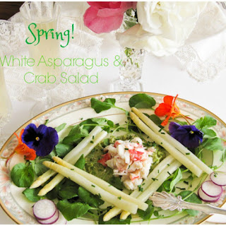 White Asparagus and Crab Salad.