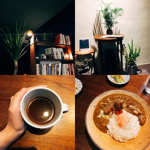 靜謐而有層次的空間,美式咖啡喝出手沖感覺,特製咖哩飯與不可數的藝文氣氛。