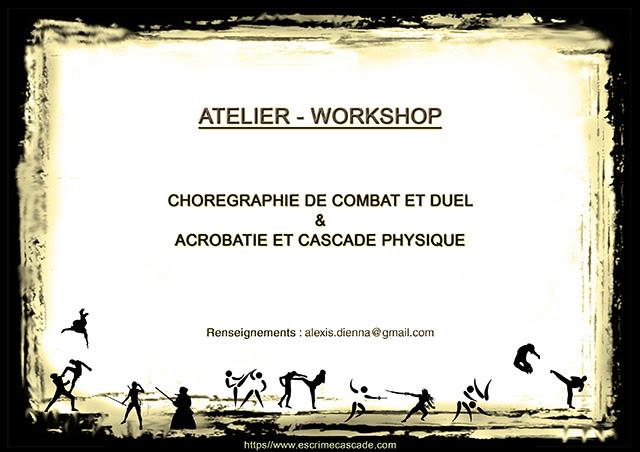 Atelier : chorégraphie de combat et duel – cascade physique.
