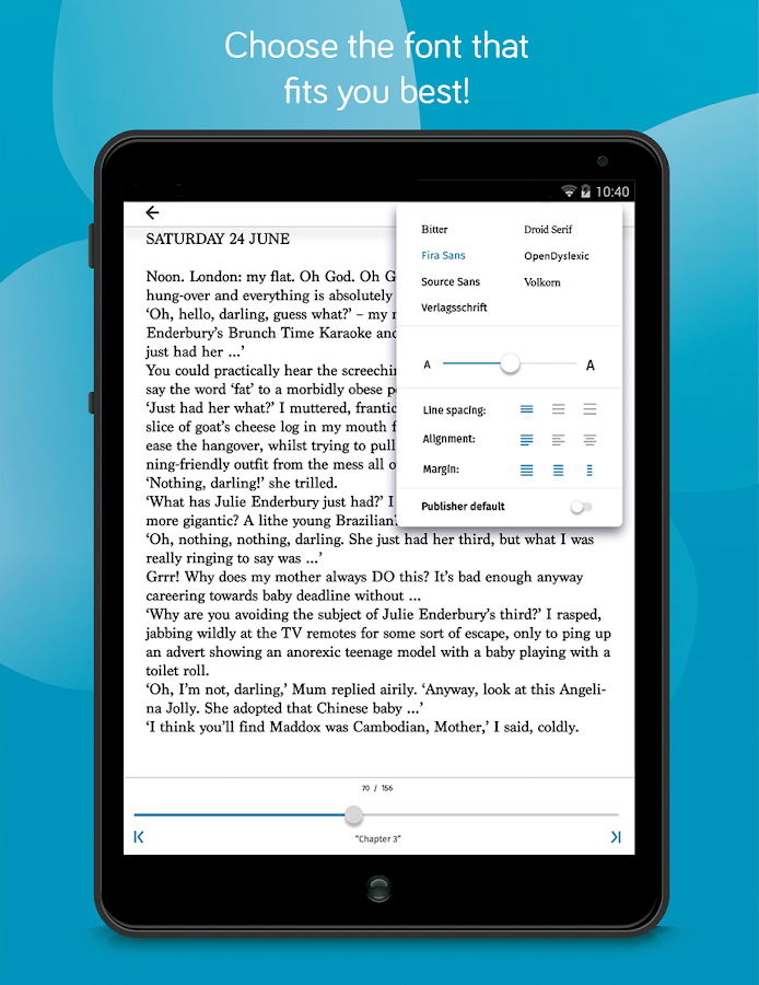 tolino e-book reading app- screenshot
