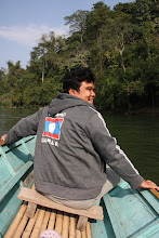 Photo: Day 292 - Lei (Our Tuk Tuk Driver) on Boat Trip on Khan River to Tad Xe Waterfalls