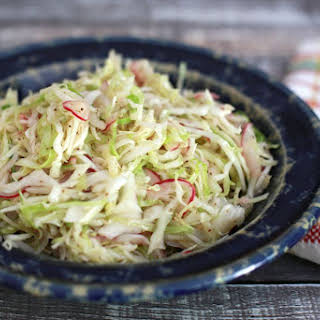Tangy Coleslaw With Vinegar Dressing.