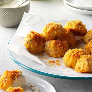 Bacon-Cheddar Potato Croquettes.