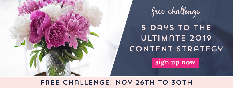 Click here to subscribe to the 2019 Ultimate Content Planning Challenge