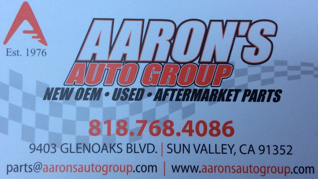 Aaron'S Auto Parts >> Aaron S Auto Group Used Parts Auto Parts Store In Sun Valley