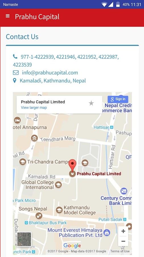Prabhu Capital- screenshot