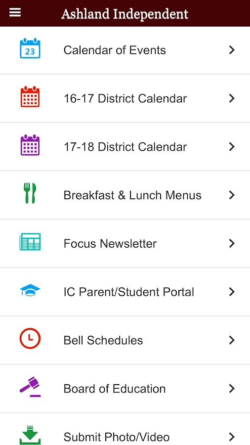 Ashland Independent Schools- screenshot