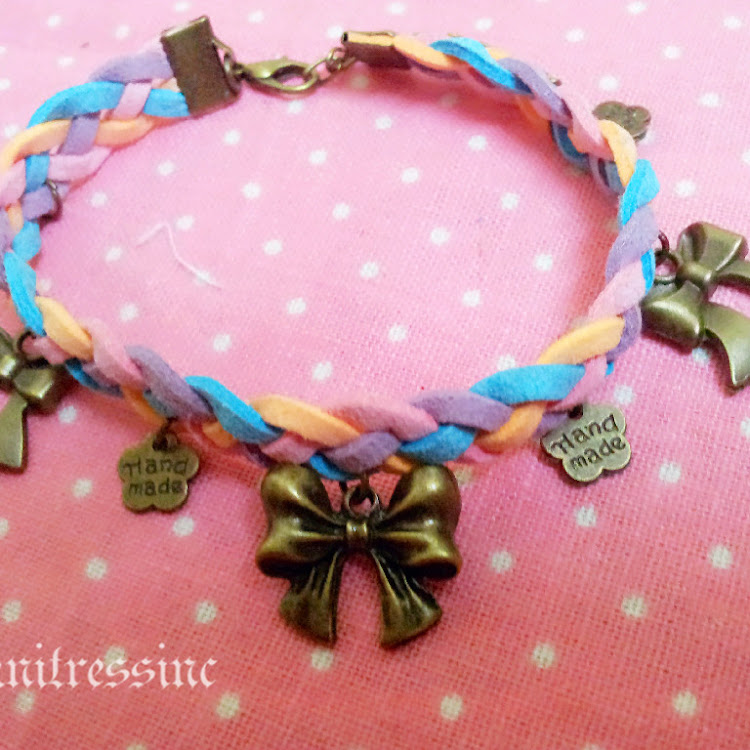 Lovely Ribbon Charm Bracelet by Knitressinc Handmade