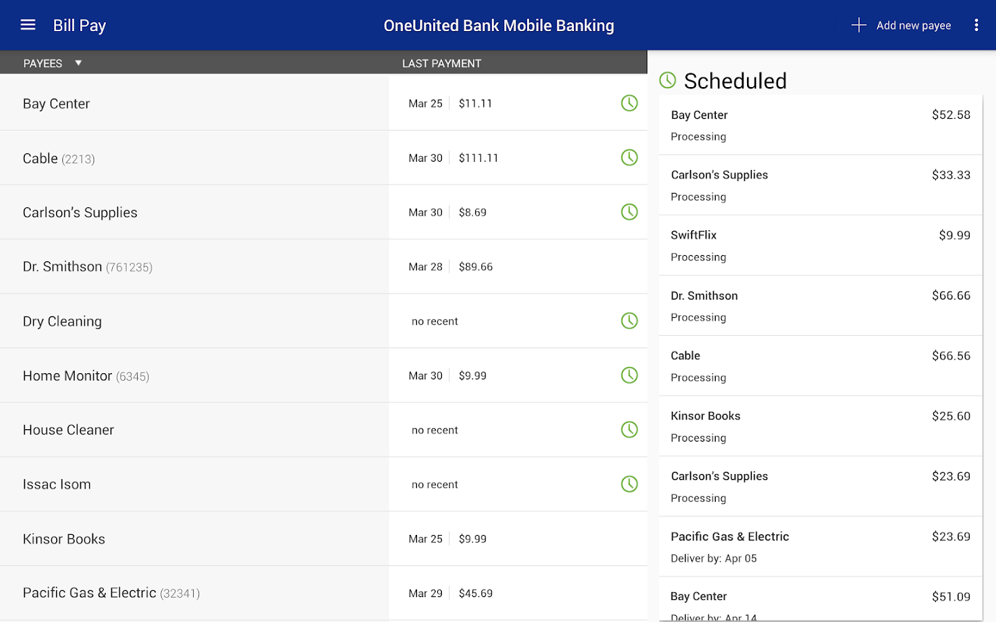 OneUnited Bank Mobile Banking- screenshot
