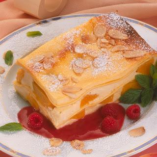Pfirsich-Lasagne