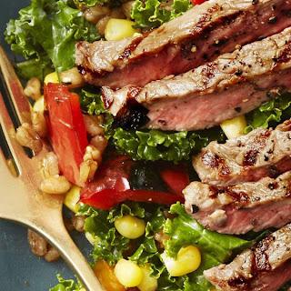 Summer Farro Salad with Grilled Steak Recipe