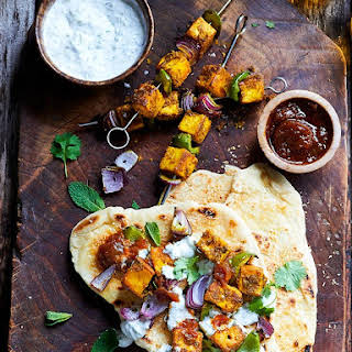 Turmeric And Coconut Paneer With Charred Naans.