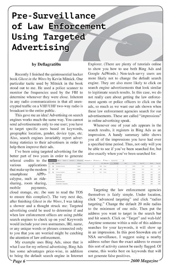 2600: The Hacker Quarterly- screenshot