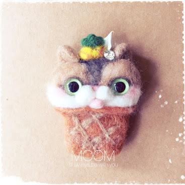 菠蘿甜筒猫