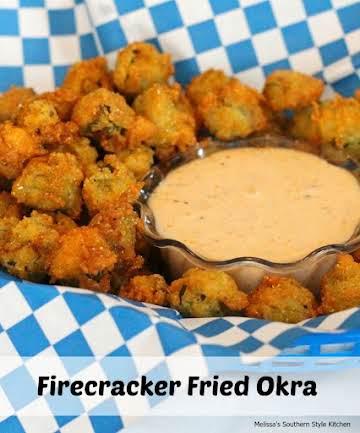 Firecracker Fried Okra - melissassouthernstylekitchen.com
