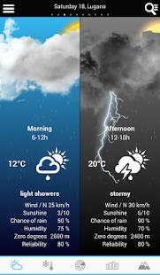Weather for Switzerland - screenshot thumbnail