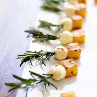 Rosemary Pineapple Mozzarella Bites.