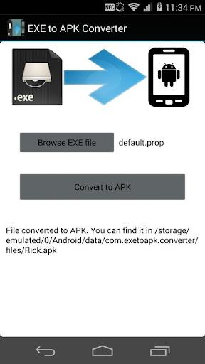 EXE to APK converter prank