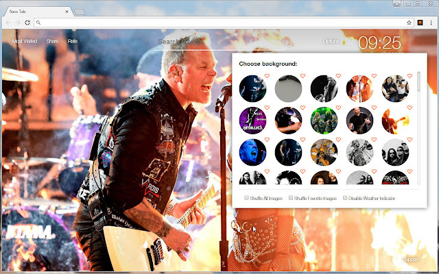 Metallica Wallpaper Custom Rock Music New Tab