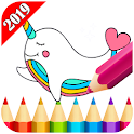 Kawaii Coloring Book For Adult 2019 icon