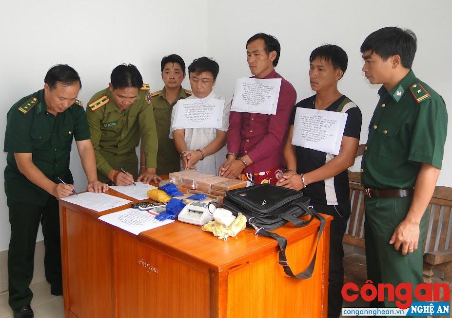 BĐBP Nghệ An phối hợp với Công an 2 tỉnh Xiêng Khoảng và Hủa Phăn (Lào) đấu tranh phòng, chống tội phạm ma túy