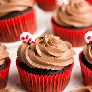 Healthy Peppermint Mocha Cupcakes.