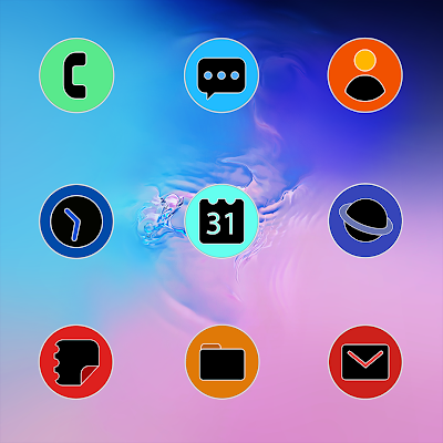 PIXEL ONE UI FLUO - ICON PACK Screenshot Image