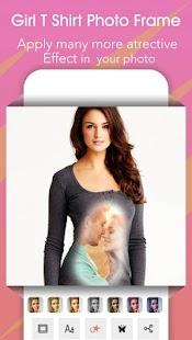 Girl T Shirt Photo Frame - náhled