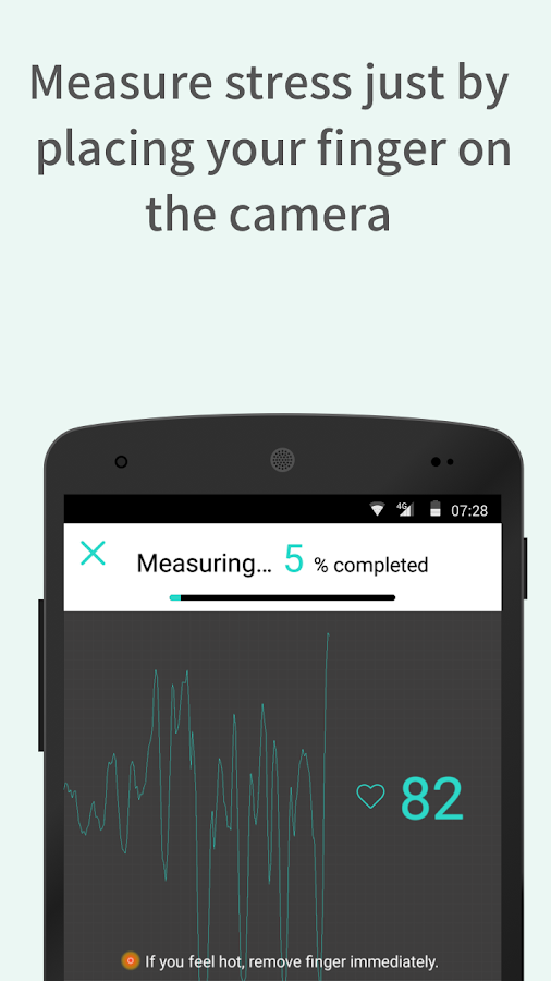StressScan: heart rate monitoring and stress test- screenshot