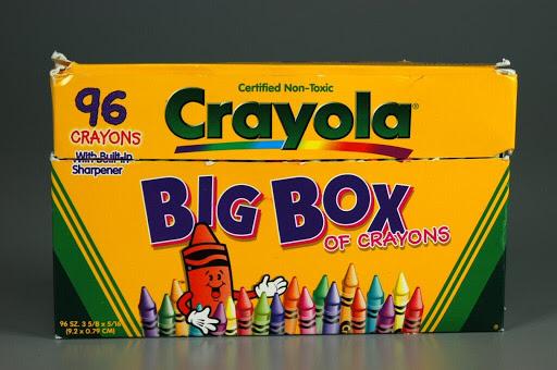 crayon crayola big box of crayons 96 crayons binney smith