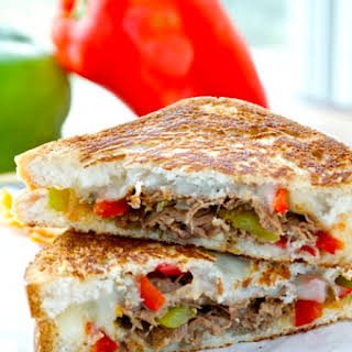 Cheesesteak Grilled Cheese.