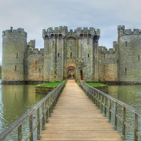 Bodiam Castle by Martin Hughes - Buildings & Architecture Decaying & Abandoned ( photomatix, sussex, castle, bodiam castle, national trust, bodiam, decaying )