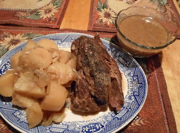 Crockpot--chuck Roast W/mushroom Gravy Recipe
