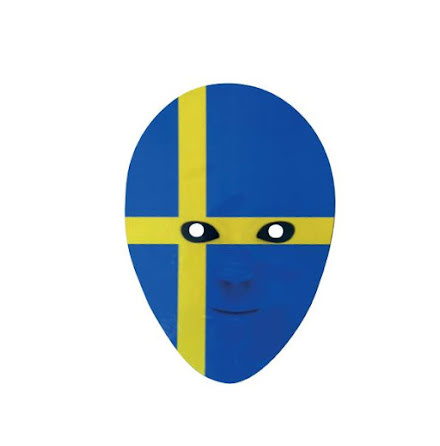 Pappmask, flagga Svenska