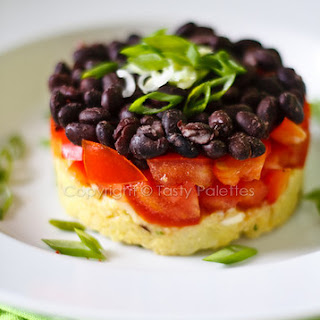 Indian Spiced Millet And Black Bean Timbale