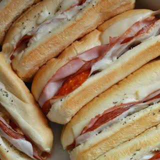 Hot Italian Sandwiches.