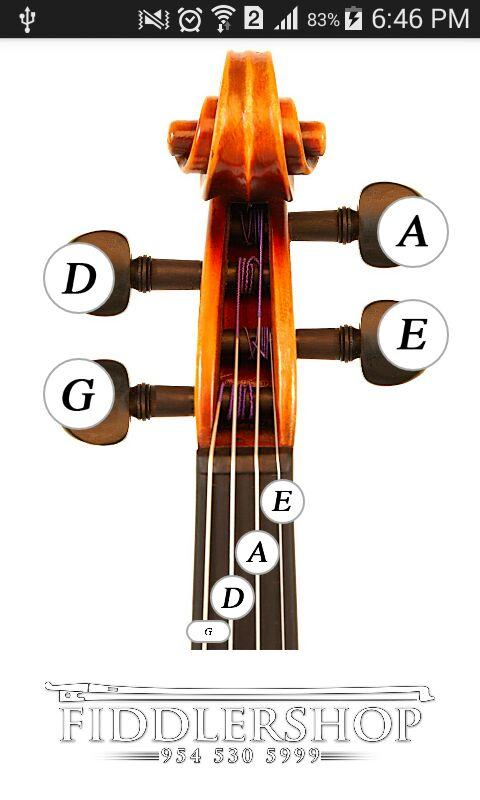 Fiddlerman Violin and Fiddle Tuning Guide- screenshot