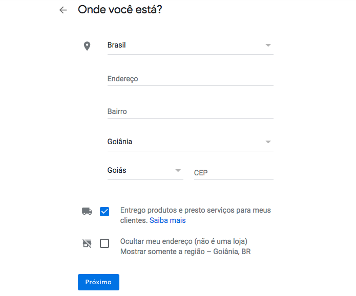 Como colocar endereço no google maps?