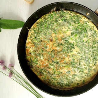 Leek And Pea Frittata