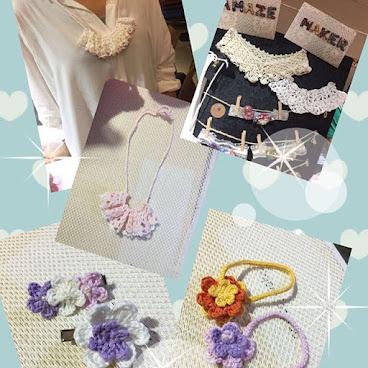 手工抝花:頸鏈/髮夾/手帶/假領 歡迎訂購 #amaze_maker #handmade #japanstyle #necklace #babyaccessories