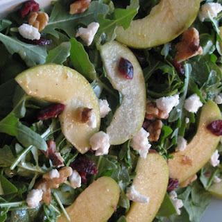 Fruit and Nut Spinach Salad with Mustard Vinaigrette.