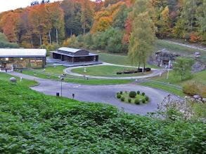 Photo: le départ, Entrée du Matériel et Bâtiment d'accueil du Simserhof