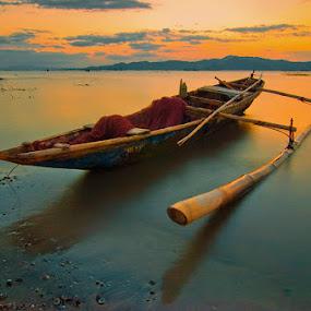 calmness by Rob Reyes - Transportation Boats