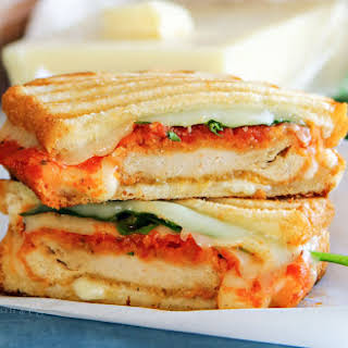 Chicken Parmesan Grilled Cheese Sandwich.