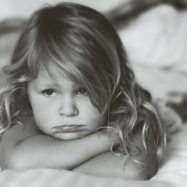 Mia by Chrismari Van Der Westhuizen - Babies & Children Toddlers ( girl, black and white, children, kids, portrait, kids portrait, emotion )