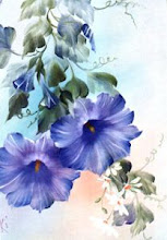 Photo: KP04 Blue Morning Glories (for 18 x 24 canvas) $6.99