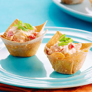 Baked Shrimp Rangoon Appetizers.