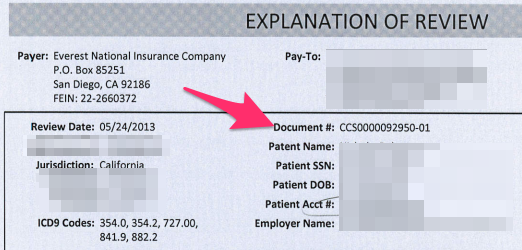 Help Articles Payer Claim Control Number