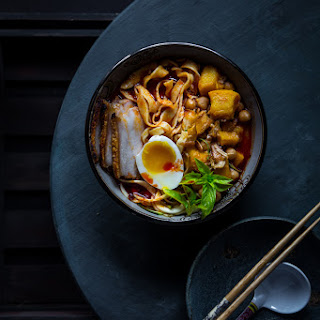 Spicy Pumpkin Noodles Soup