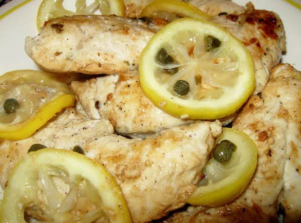 Lemon Pepper Chicken With Garlic & Balsamic Capers Recipe